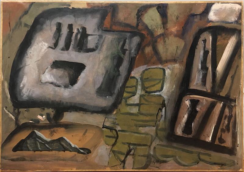 Mario SIRONI - Peinture - Composizione