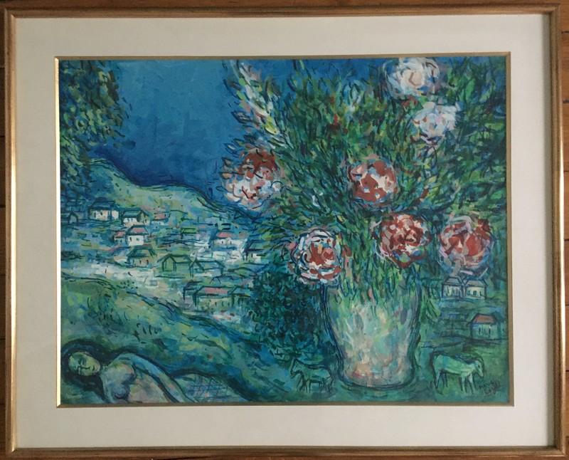Elmyr DE HORY - Dibujo Acuarela - Homage to Chagall