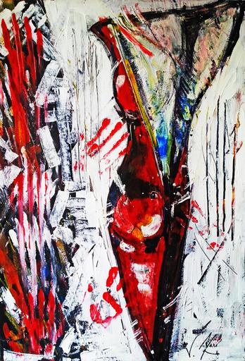 Vesna KRSMANOVIC - Painting - Red Swan    (Cat N° 4979)