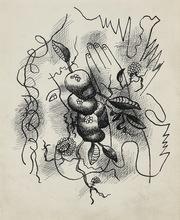 费尔南‧雷杰 - 水彩作品 - Composition au profil et à la main