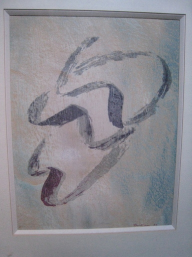Jean FAUTRIER - Estampe-Multiple - ANNABELLA NUE  1957