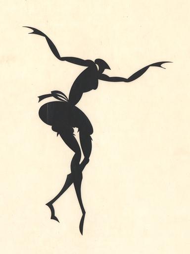 Ernst Moritz ENGERT - Drawing-Watercolor - Tänzerin, 1915.