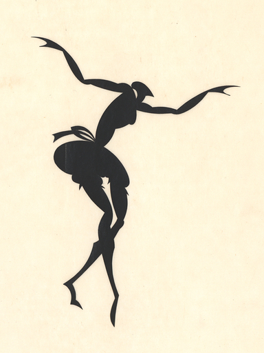 Ernst Moritz ENGERT - Disegno Acquarello - Tänzerin, 1915.
