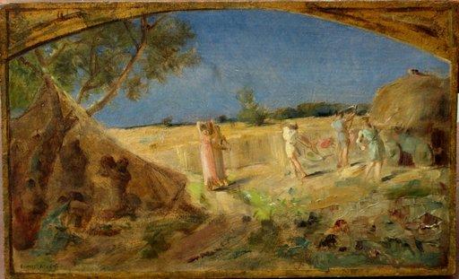 """Ernest Joseph LAURENT - Peinture - ETUDE POUR FRESQUE""""LES MOISSONS"""""""