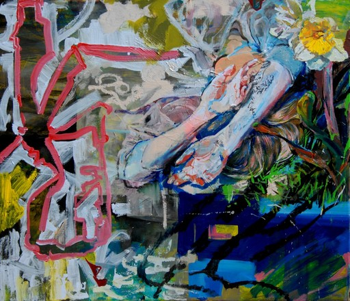 Sophie BOKSER - Painting - Love without war