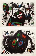 Joan MIRO (1893-1983) - Pl.1 and Pl.5 from 'Homenatge a Joan Prats'
