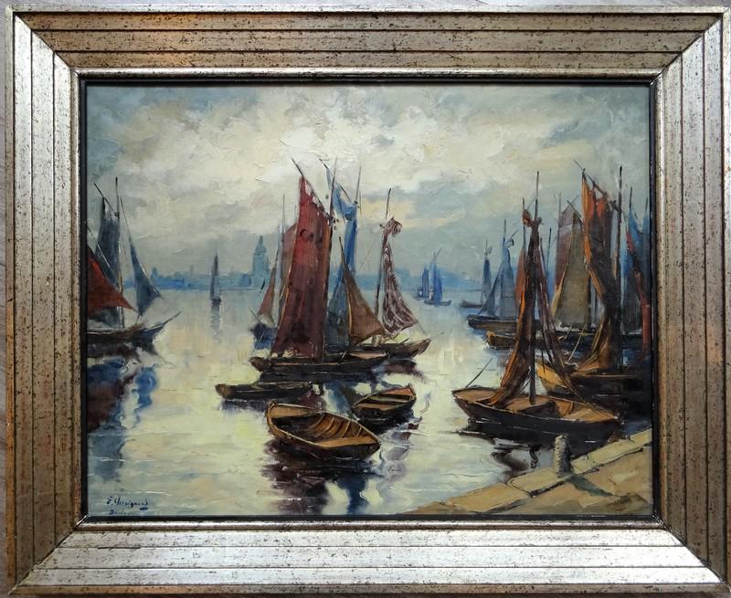 Georges CHAVIGNAUD - Pittura - Port de Boulogne sur Mer