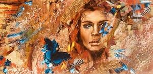 Diana MALIVANI - Pittura - The Blue Butterfly's Dream