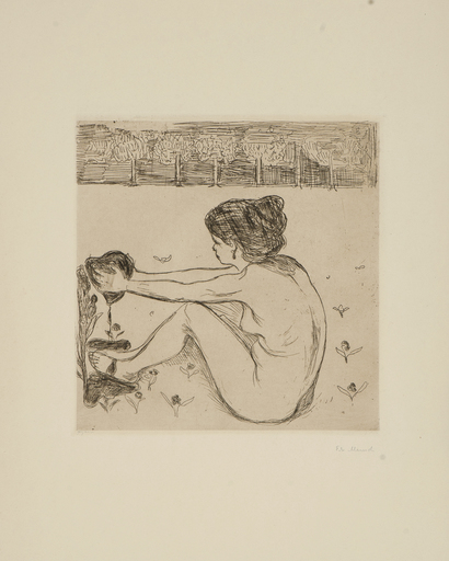 Edvard MUNCH - Print-Multiple - The Woman and the Heart