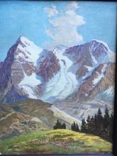 Leonardo RODA - Pintura - Paisaje con montañas