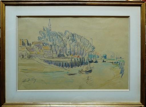 Léon DETROY - Dessin-Aquarelle - Le chenal
