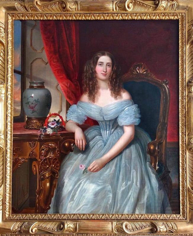 Pietro LUCCHINI - Peinture - Ritratto di nobildonna