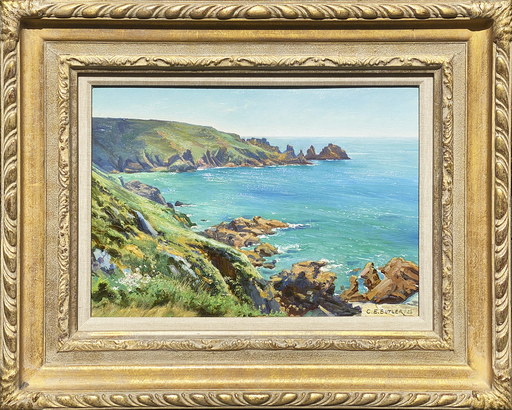 Charles Ernest BUTLER - 绘画 - The Cornish Coast
