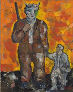 Sandro CHIA - Painting - Io sono un pescator