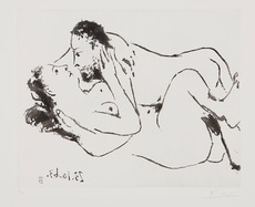 巴勃罗•毕加索 - 版画 - L'Etreinte