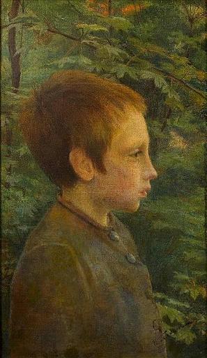 Ilia Sawic GALKIN - Peinture - Boy in Profile