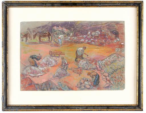 Jean PESKÉ - Drawing-Watercolor - Stonecutters