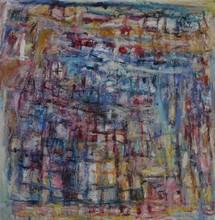 Christine Ange LEFEVRE - Peinture - Sans titre aux petits carrés 1