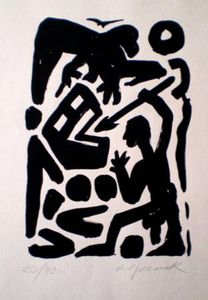 A.R. PENCK - Estampe-Multiple - Untitled 6