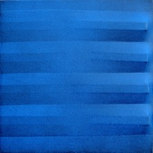 Agostino BONALUMI - Peinture - Blu