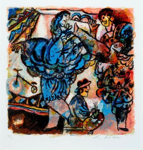 Théo TOBIASSE - Print-Multiple - Rêve d'artiste circa 1989-1990