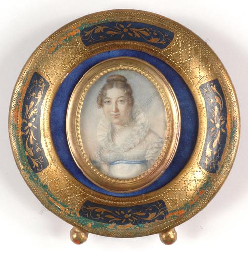 """Jean-François HOLLIER - Miniature - """"Portrait of a young lady"""""""