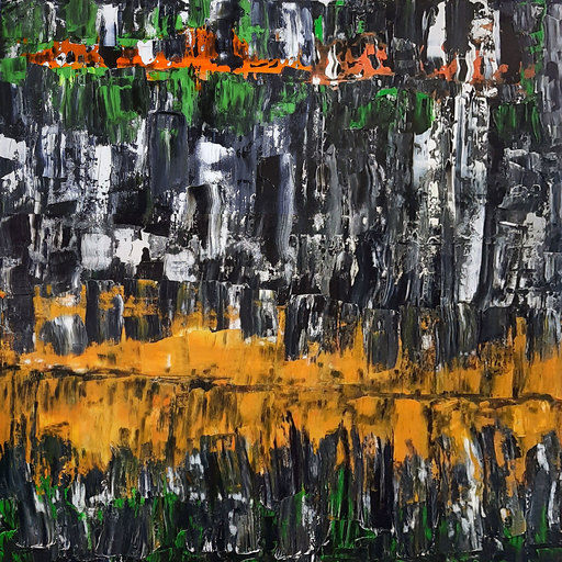 Patrick JOOSTEN - Peinture - Orange