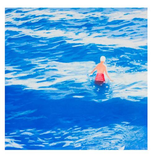Isca GREENFIELD-SANDERS - 版画 - Wading II (Blue)