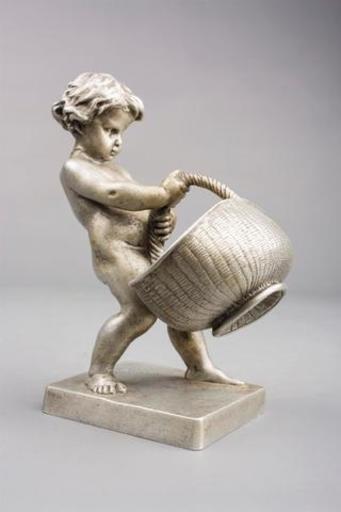 Louis Ernest BARRIAS - Sculpture-Volume - enfant au panier