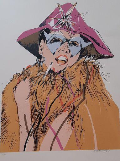 Andrea PAGNACCO - Stampa Multiplo - Donna carnevale 54/90