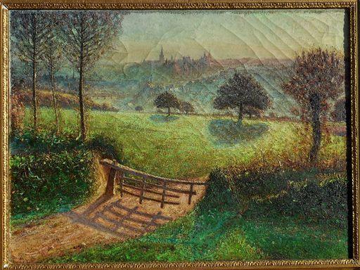Raoul DAVID - Painting - Vitré - ILLE et VILAINE
