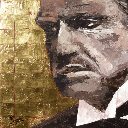 Peter ENGELS - Pintura - Marlon Brando - The Godfather