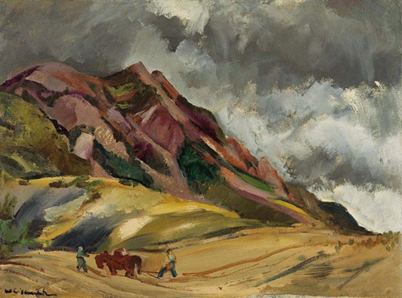 Willy EISENSCHITZ - Pintura - Bauern in der Provence