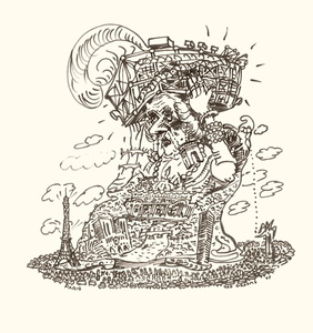 Red GROOMS - Dibujo Acuarela - Paris a grand chapeau