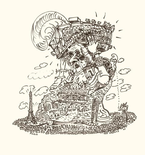 Red GROOMS - Disegno Acquarello - Paris a grand chapeau