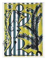 Stefan SZCZESNY - Grabado - Nude with Palms on Green Stripes