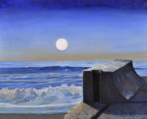 Ernst MAROW - Painting - Mondaufgang an der See