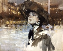 Victor GUERRIER (1893-1968) - Lady in the night