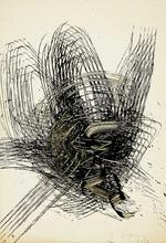 Yasuo SUMI - Dibujo Acuarela - Early Gutai Work Sketch 07