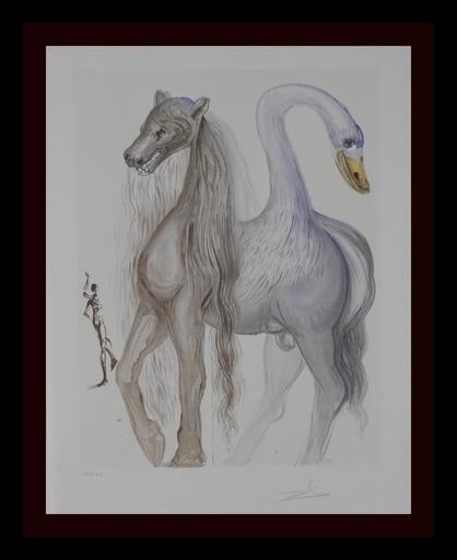 Salvador DALI - Grabado - Dalinean Horses Horace's Chimera