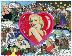 Charles FAZZINO - Druckgrafik-Multiple - Love and Kisses Marilyn