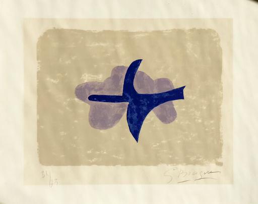 Georges BRAQUE - Grabado - Dans le ciel  (Oiseau XV)