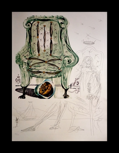 Salvador DALI - Stampa-Multiplo - Imaginations/Objects of Future Breathing Armchair