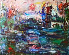 Elemer VAGH-WEINMANN - Pintura - PARIS PONT SUR LA SEINE