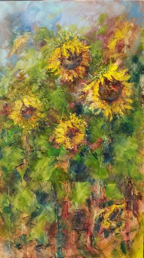 Alexandra LASKINA - Gemälde - Sunflowers