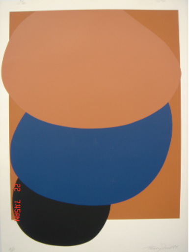 Terry FROST - Grabado - Brown, Blue and Black Descending