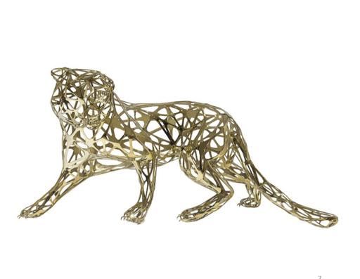 Richard ORLINSKI - Sculpture-Volume - TIGER GOLD LACE STAINLESS STEEL