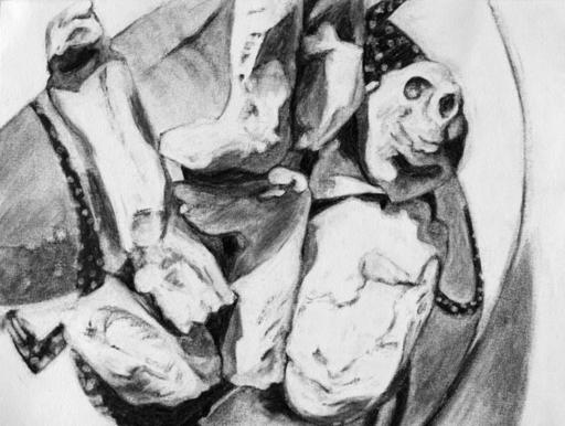Flo JAOUEN - Drawing-Watercolor - « Pirouette cacahuète 1 »