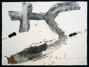 Antoni TAPIES, CREU I S. HAND SIGNED BY ARTIST