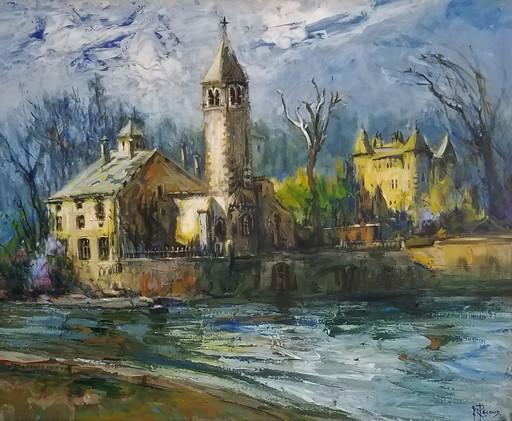 Gilbert PECOUD - Gemälde - L'île Barbe